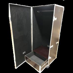 Одинарный кофр для одежды с выдвижными ящиками под аксессуары
